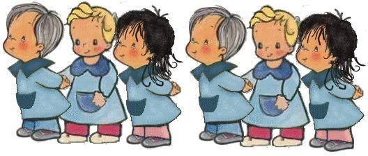 Niños en fila animados - Imagui