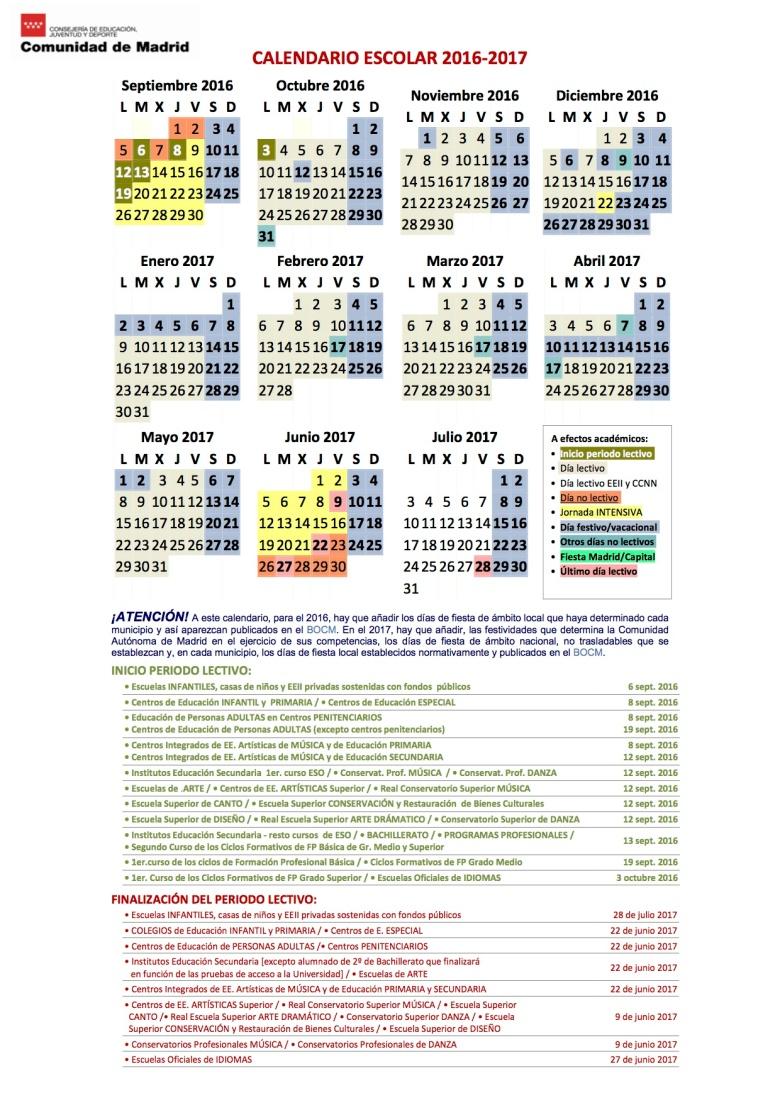 5Imprimir el calendario en color 2016-2017